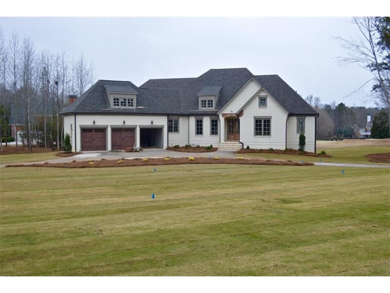 Coffered ceiling and stone fireplace vaulted keeping room with - Fayetteville Real Estate Fayetteville Homes For Sale