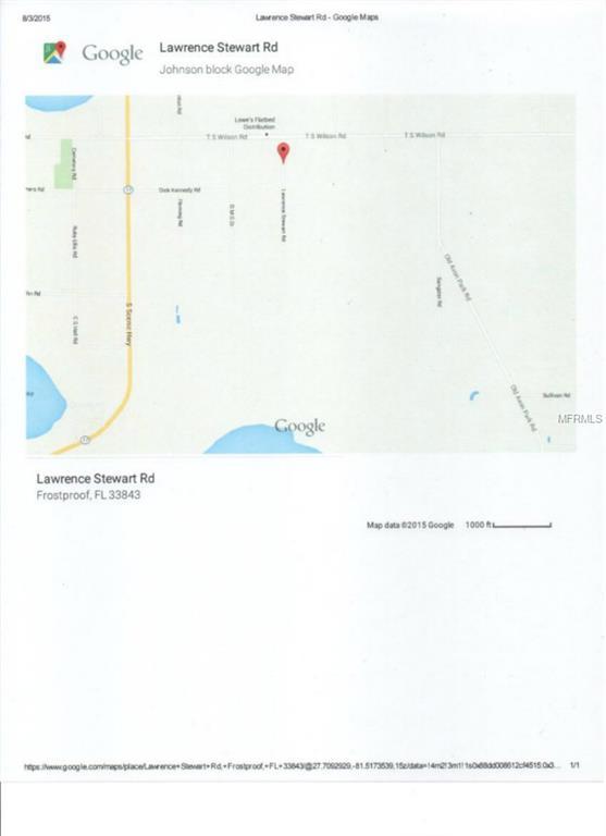 Frostproof Florida Map.Lawrence Stewart Road Frostproof Fl 33843